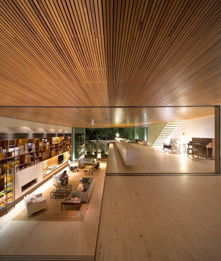 mk_191114_29 » CONTEMPORIST Marcio Kogan - Tetris house Stunning Travertine floors and wood ceilings