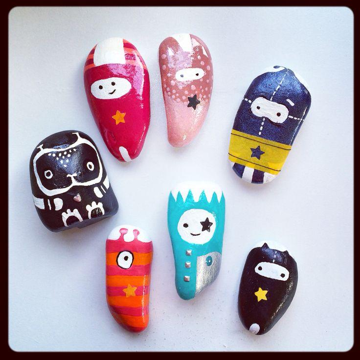 My Rock Buddies #handmade #COXdesignNZ
