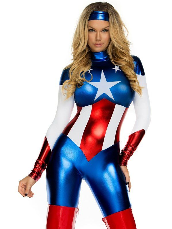 Sexy Women's American Beauty Jumpsuit Costume
