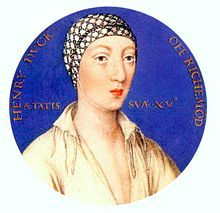 Henry Fitzroy, the 1st Duke of Monmouth and Summerset,  was the royal love child of King Henry VIII and his mistress, Bessie Blount.  Sadly, the little duke predeceased his father. King Henry VIII may have had other love children, but only Henry Fitzroy was acknowledged by the king.