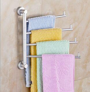 Aliexpress.com: Comprar Alta calidad de aluminio espacio de turnable 2 4 rails carril de toalla para baño toallas toalheiros baño metais para banheiro herramientas de fabricante de la impresora 3d bot fiable proveedores en Arthome