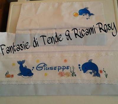 Fantasie di Tende & Ricami Rosy: Lenzuolino con ricamo personalizzato