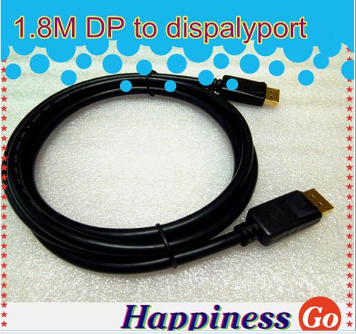 1.8M DisplayPort DP to DP Audio Adapter Cable Male to Male Displayport cable