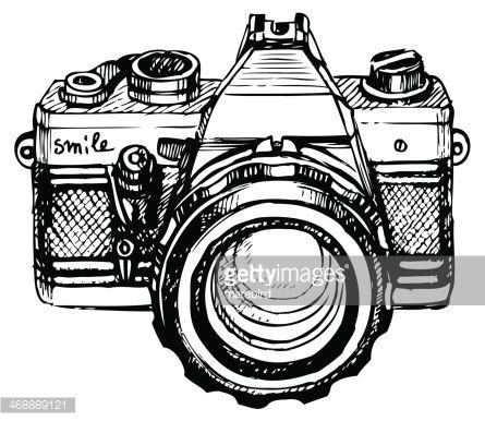 vintage camera drawing - Google zoeken