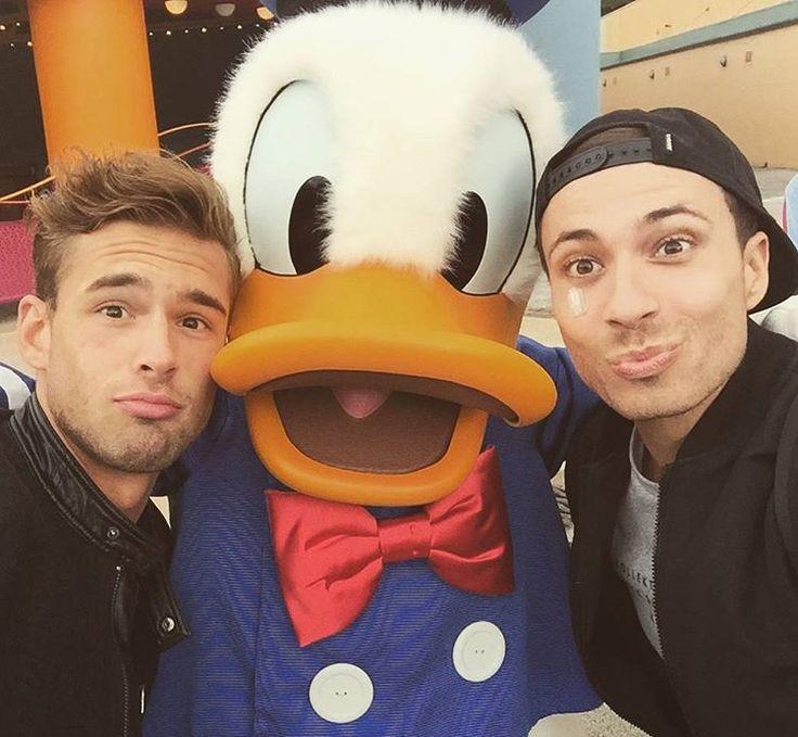 Een Donald Duck-face//Rutger en Thomas