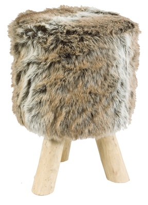 This Faux Fur Stool Has Three Sturdy Wooden Legs And A Wonderfully Fluffy  Polyester Cover. Good Looking