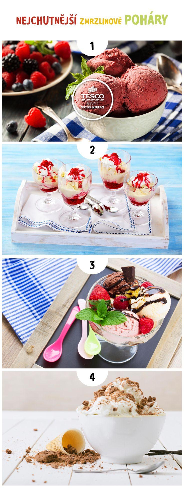 Výborné zmrzlinové poháry, které budou vaše děti milovat!