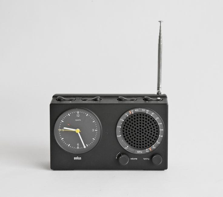 Braun ABR 21 clock radio, Dieter Rams and Dietrich Lubs, 1978