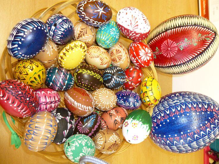 kraslice - slepičí a pštrosí vejce