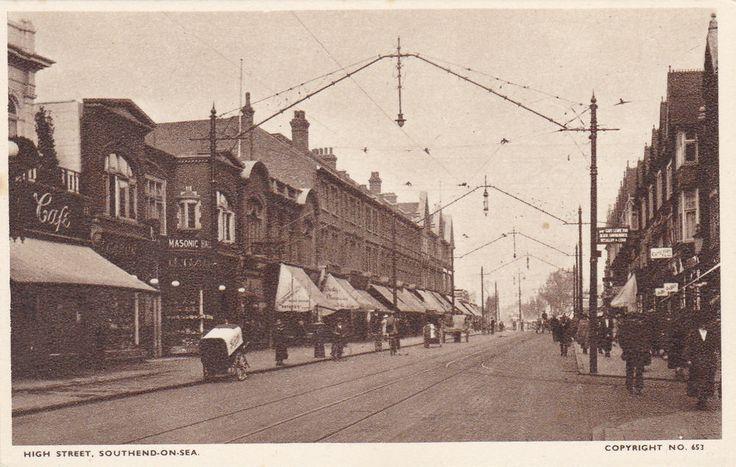 Vintage postcard high street southend on sea old photo 39 s for 1 royal terrace southend on sea