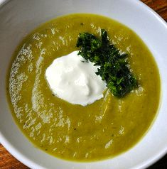 Leek, Asparagus and Herb Soup