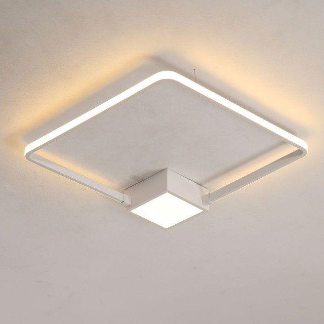 Euro Modern Ceiling Light Warm White Light Square Ceiling Lamp