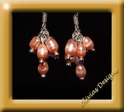 Sterlingsilber, Silber 925 Ohrhänger 7 x Süsswasserperlen  #smaragd #earstuds #emerald #earrings #designer #schmuck #olivias #amber #saphir #sapphire