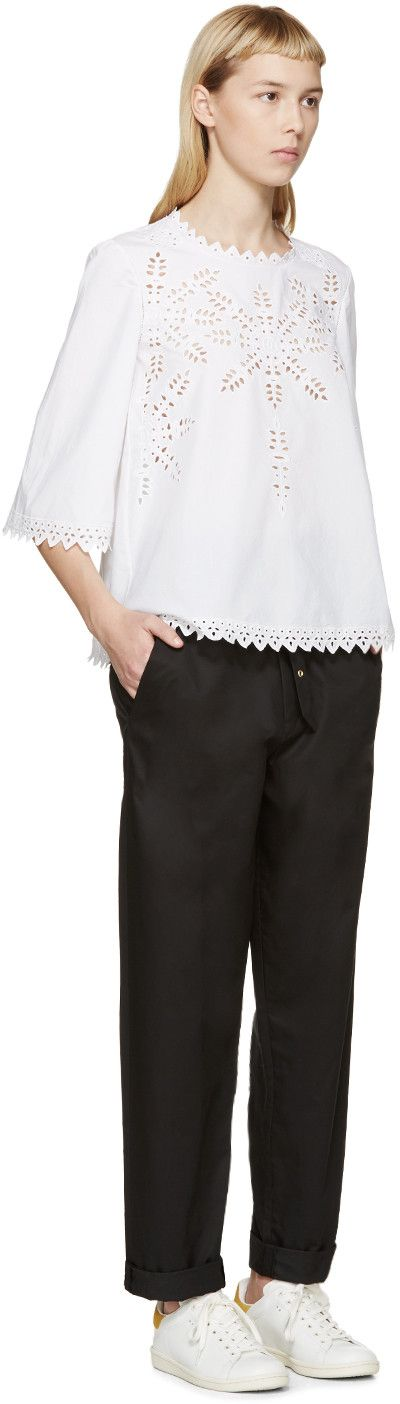 Isabel Marant Etoile White Broderie Anglaise Dill Blouse 335.00