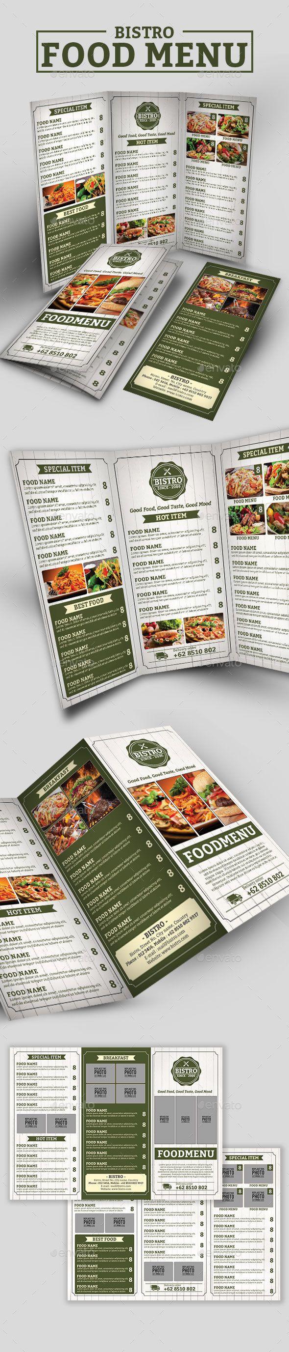 Bistro Tri-Fold Menu - Restaurant Flyers
