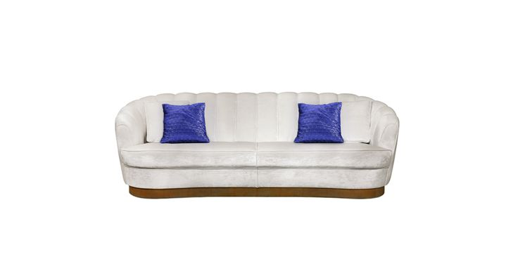 PEARL Lounge Sofa Modern Contemporary Furniture by BRABBU  is ideal to bring a cozy feeling to a living room set.