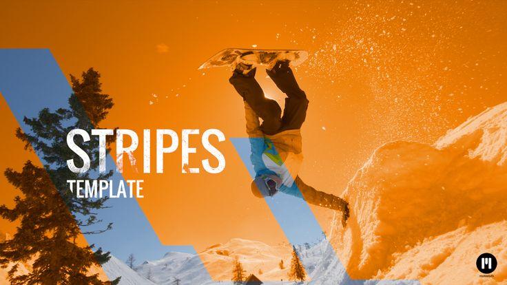 New Template! Dynamic Stripes - www.motionvfx.com/N2095 #FCPX #FinalCutProX #VideoEditing #Motion5 #Apple #Design