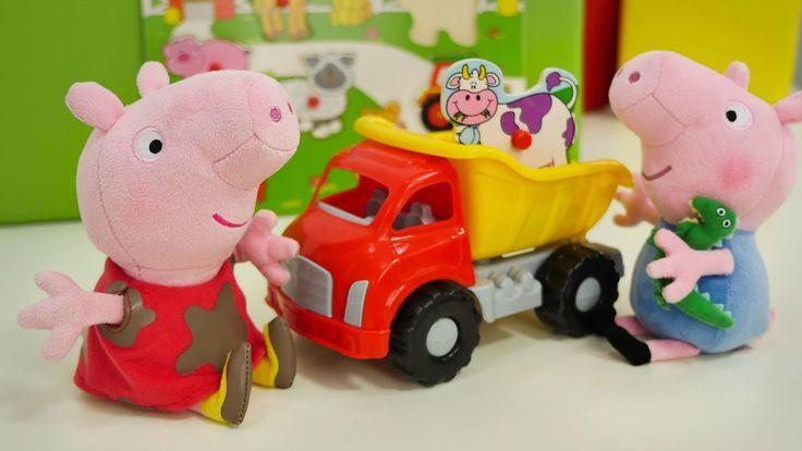 Новые серии Пеппы: Пеппа и Джордж собирают пазлы из животных! Ферма для ...