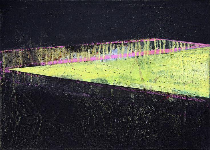 """Aufsteigend"", 50 x 70 cm, acrylic on canvas, Marco Kaufmann 2015"