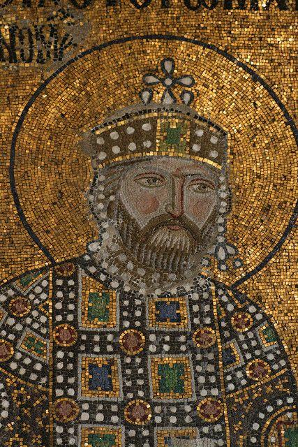 Haghia Sophia Mosaic Detail: The Byzantine Emperor Constantine IX Monomachus by jeffergray, via Flickr