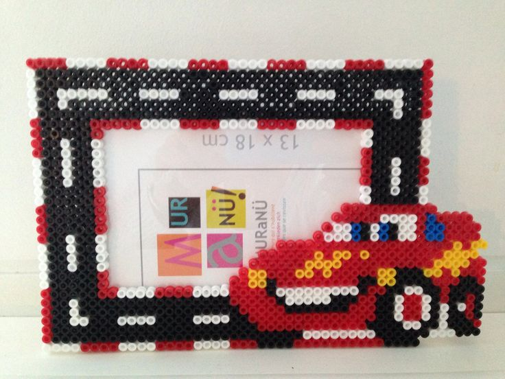 Cars photo frame hama beads by Les-petites-creas-de-laura