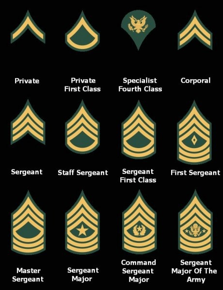 Enlisted Ranks Army Mom Pinterest