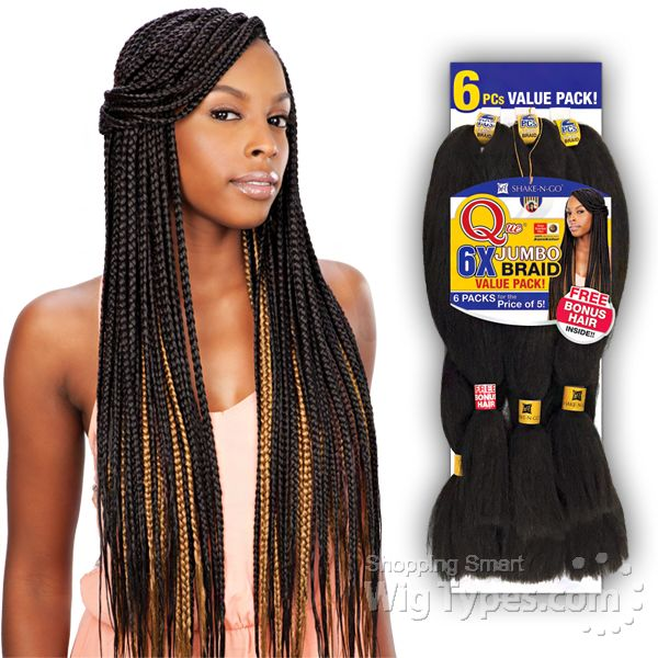 Freetress Synthetic Braid Que 6x King Jumbo Braid 6 Pack For