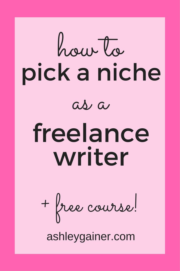 Great advice for what to do when you don't know how to pick your writing niche.