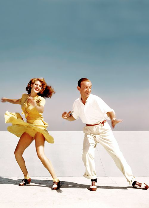 The movies with Fred Astaire are just priceless: Rita Hayworth & Fred Astaire rehearse for You Were Never Lovelier (1942)