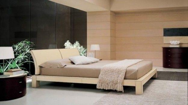 Camere da letto moderne - Camera da letto moderna beige