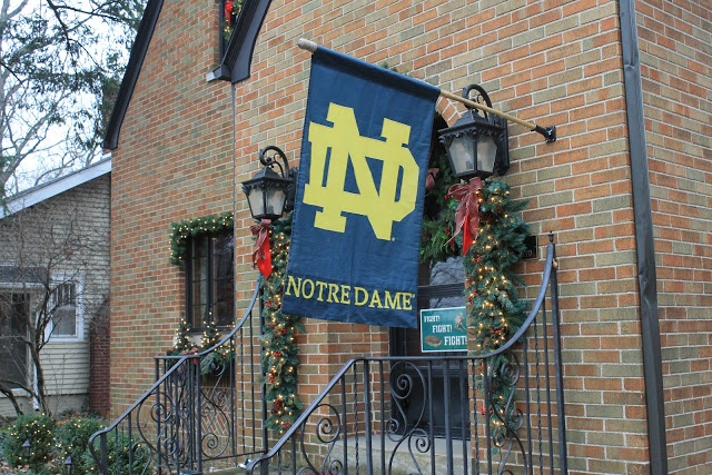 Notre Dame and Christmas decorations crashing into one another for 2012 in anticipation of January 7th's title game!