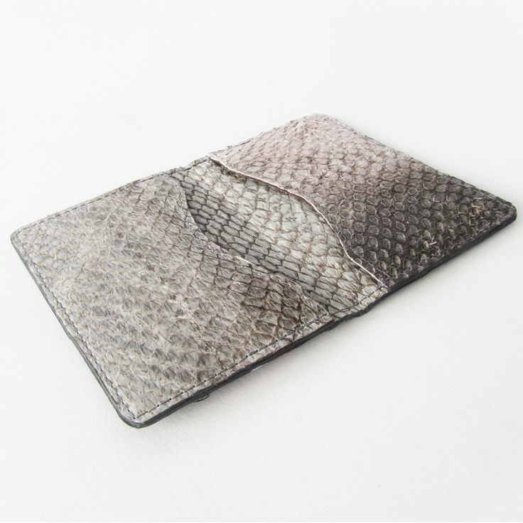 Natural Coloured Fish Leather Cardholder | Daughter of Jón | Handmade Bags & Accessories
