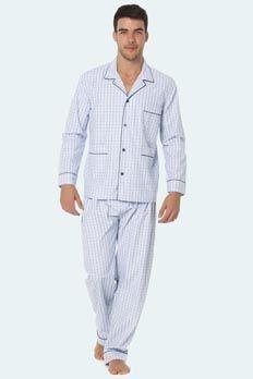 Pijama tela Punto Blanco modelo Elton, algodón