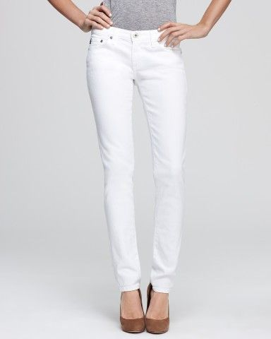 AG Adriano Goldschmied Jeans - The Stilt in White   Bloomingdale's