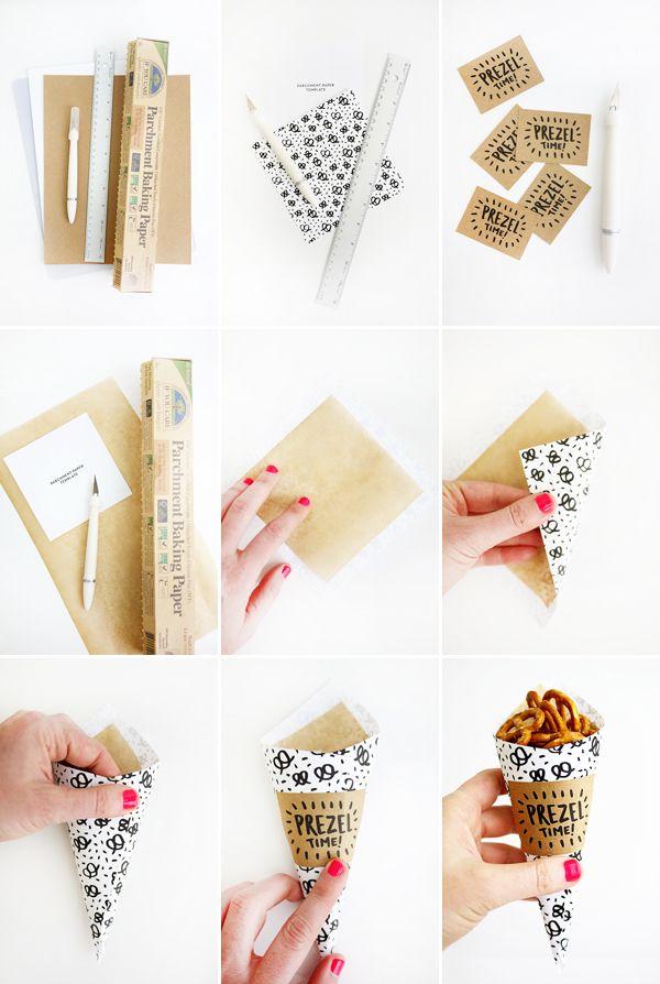 Printable Pretzel Cones | Oh Happy Day!