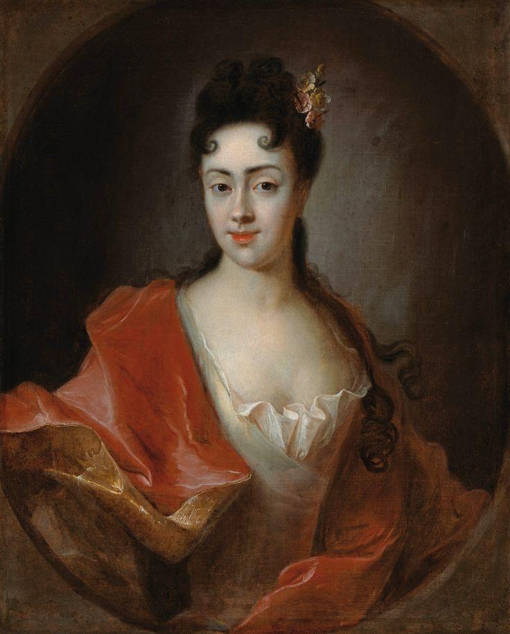 Portrait of Teresa Łubieńska née Bielińska by Ádám Mányoki, 1712-1713 (PD-art/old), Muzeum Łazienki Królewskie (MLK), from the collection of Stanislaus Augustus, Teresa was a younger sister of Franciszek Bieliński