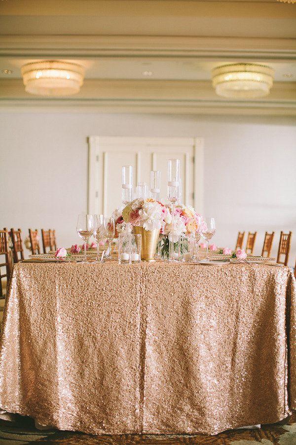 #gold, #tablescapes, #glitter    Photography: Rebecca Arthurs - rebecca-arthurs.com  Planning and Design: Christina Farrow - pacificaisles.com  Florist: Martin Roberts Design - martinroberts.com/    Read More: http://www.stylemepretty.com/2013/03/05/kauai-wedding-from-rebecca-arthurs-photography/