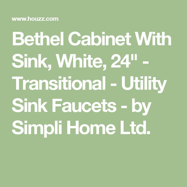 "Bethel Cabinet With Sink, White, 24"" - Transitional - Utility Sink Faucets - by Simpli Home Ltd."