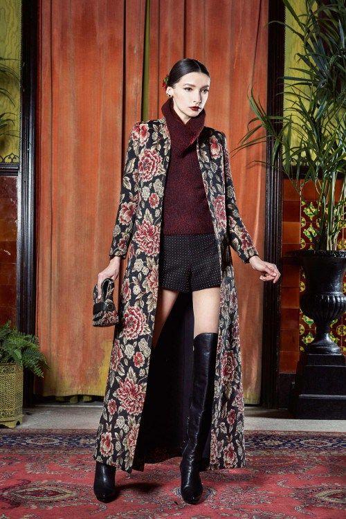 New York Fashion Week Alice + Olivia осень-зима 2015-2016, неделя моды, nyfw, knitwear, вязаный бордовый свитер (фото 3)