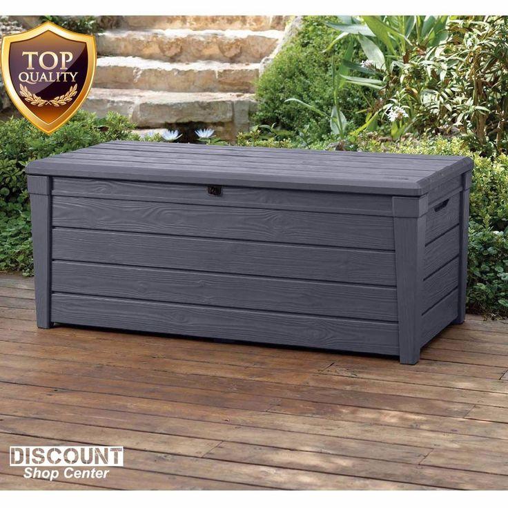 Details About Outdoor Patio Plastic Deck Storage Box 120