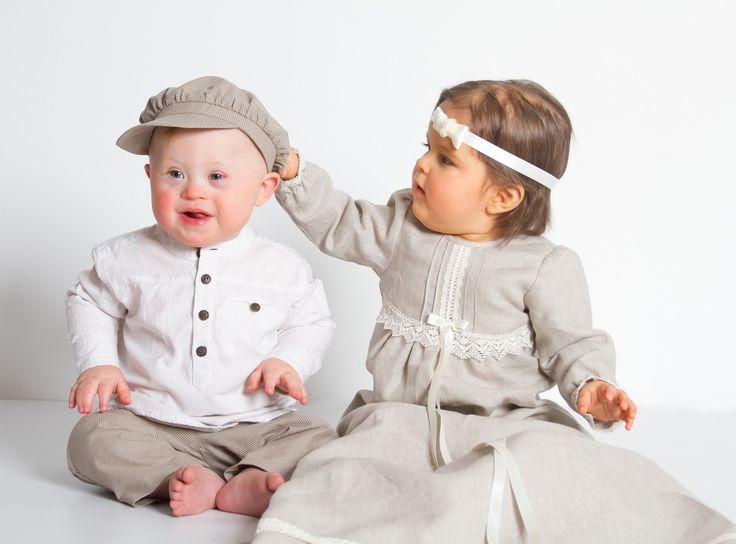 Dåpskjole Tradisjon Natur fra Grace of Sweden. Vakker og særegen dåpskjole!