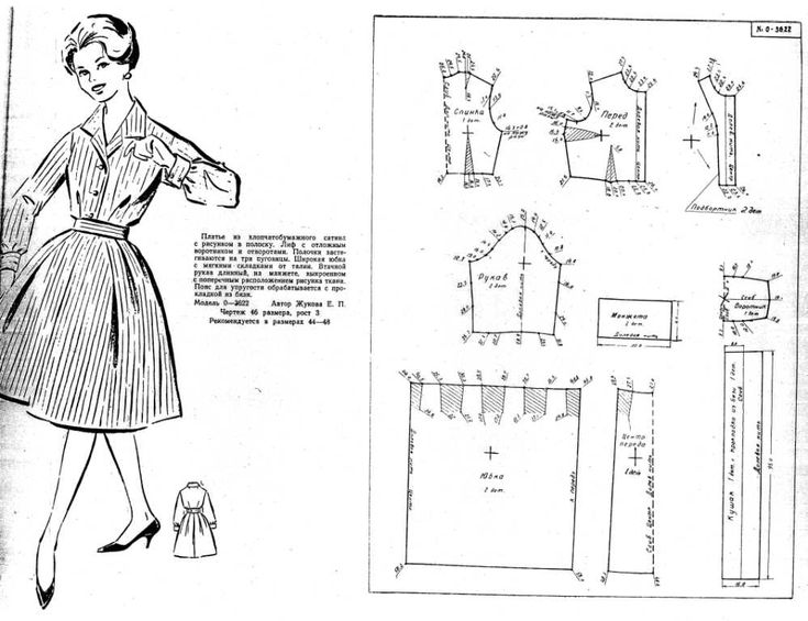 Free Vintage Coat Sewing Draft Pattern