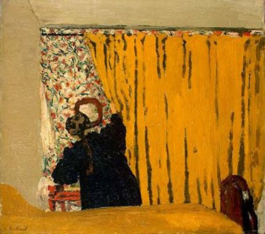 Edouard Vuillard, The Yellow Curtain, c. 1893, oil on canvas, National Gallery of Art, Washington, Ailsa Mellon Bruce Collection 1970.17.95