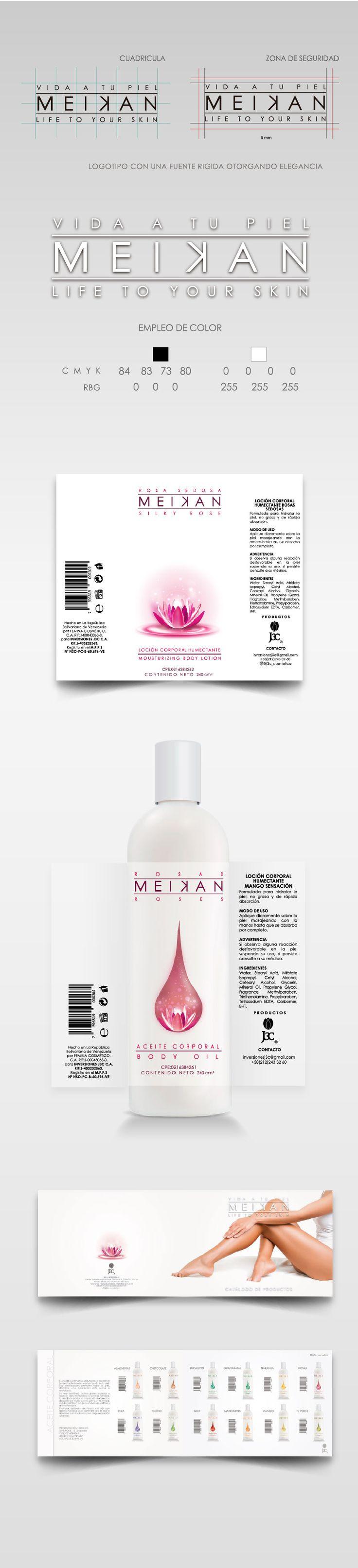 MEIKAN crema humectante y aceite mineral línea de productos de J3C, cosméticos asesoría de imagen y producción #venezuela #cosmeticos #cremas #aceite #aceitemineral #envases #productor #etiquetas #j3c #catalago
