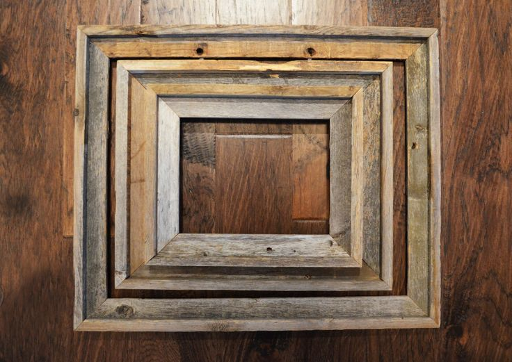 Set of 3 Rustic Weathered Picture Frames, Barnwood Natural patina, Pioneer Style Western Farmhouse by Trashtiques on Etsy https://www.etsy.com/ca/listing/452782984/set-of-3-rustic-weathered-picture-frames