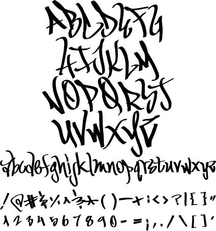FONT | ... over each letter translated into an authentic graffiti font