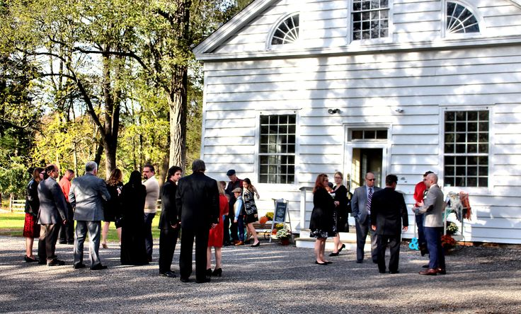 Outside the charming 19th Century Allaire Chapel, located inside Allaire State Park, Farmingdale, NJ.