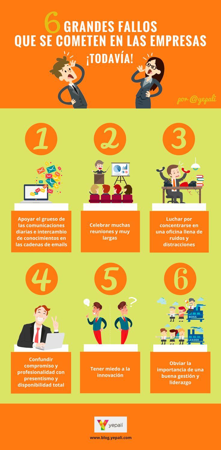6 errores que cometen las empresas ¡todavía! #infografia #infographic