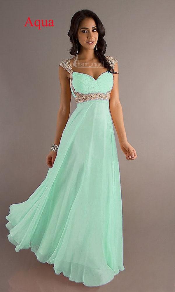 Aqua Prom dress
