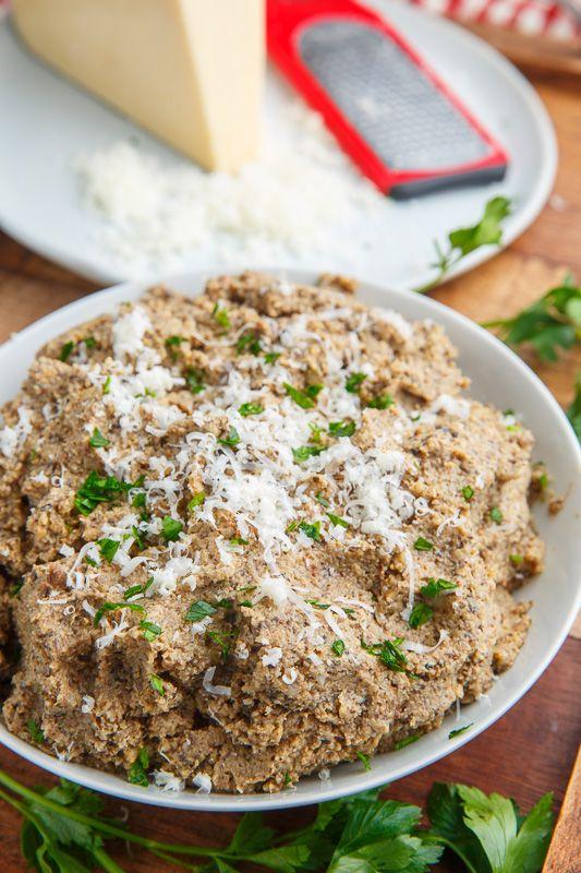 Asiago Roasted Mushroom Mashed Cauliflower